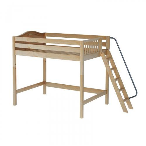 Chunky High Loft by Maxtrix Kids: Natural, Curved, Full, Side Ladder
