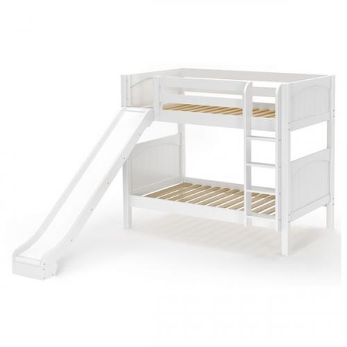 Jolly Med Bunk Bed by Maxtrix Kids: White, Panel, Twin, Slide