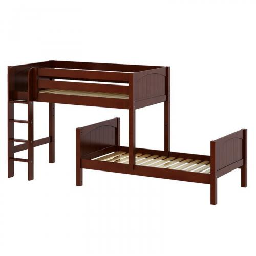 Mish Parallel Bunk Bed by Maxtrix Kids: Chestnut, Panel, Twin