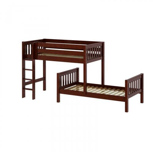 Mish Parallel Bunk Bed by Maxtrix Kids: Chestnut, Slats, Twin