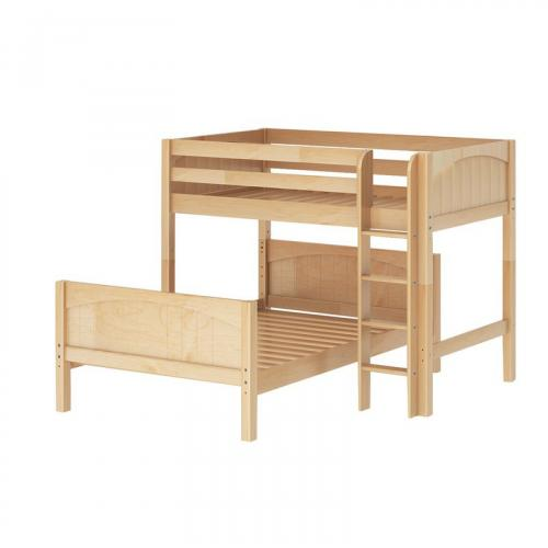 Mix Low ToF Bunk Bed by Maxtrix Kids: Natural, Panel