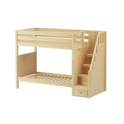 Wopper High Bunk Bed by Maxtrix Kids: Natural, Panel, Twin