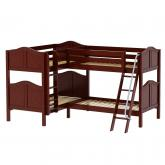 Crux CC Med High Corner Bunk by Maxtrix Kids: Chestnut, Curved, Twin