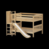 Chant Low Bunk Bed by Maxtrix Kids: Natural, Slats, Full, Slide