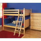 Fat Med Bunk Bed by Maxtrix Kids: Natural, Panel, Full