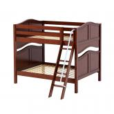 Fat Med Bunk Bed by Maxtrix Kids: Chestnut, Curved, Full