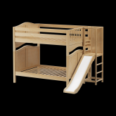 Gamut High Bunk Bed by Maxtrix Kids: Natural, Curved, Full, Slide