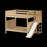 Gamut High Bunk Bed by Maxtrix Kids: Natural, Panel, Full, Slide