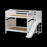 Gamut High Bunk Bed by Maxtrix Kids: White, Curved, Full, Slide