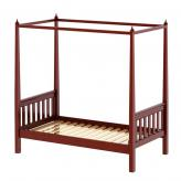 Goldilocks Canopy Bed by Maxtrix: Chestnut, Slat
