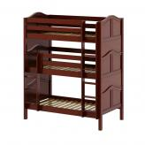 Holy Triple Bunk Bed by Maxtrix Kids: Chestnut, Curved, Twin