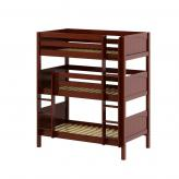 Holy Triple Bunk Bed by Maxtrix Kids: Chestnut, Panel, Twin