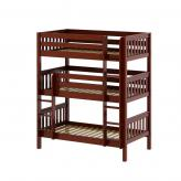Holy Triple Bunk Bed by Maxtrix Kids: Chestnut, Slats, Twin