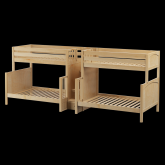 Inflation Quadruple Bunk Bed by Maxtrix Kids: Natural, Panel