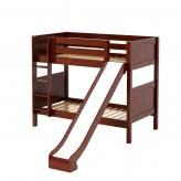 Jolly Med Bunk Bed by Maxtrix Kids: Chestnut, Panel, Twin, Slide