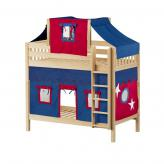 Alto High Bunk by Maxtrix Kids: Natural, Slats, Twin, 21-Blue / Red