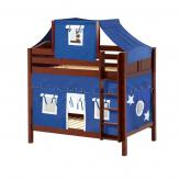 Alto High Bunk by Maxtrix Kids: Chestnut, Curved, Twin, 22-Blue / White