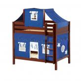 Alto High Bunk by Maxtrix Kids: Chestnut, Panel, Twin, 22-Blue / White