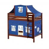 Alto High Bunk by Maxtrix Kids: Chestnut, Slats, Twin, 22-Blue / White