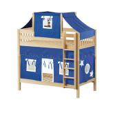 Alto High Bunk by Maxtrix Kids: Natural, Slats, Twin, 22-Blue / White