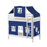 Alto High Bunk by Maxtrix Kids: White, Slats, Twin, 22-Blue / White