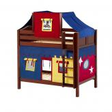 Alto High Bunk by Maxtrix Kids: Chestnut, Curved, Twin, 29-Red / Blue / Yellow
