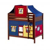 Alto High Bunk by Maxtrix Kids: Chestnut, Panel, Twin, 29-Red / Blue / Yellow