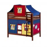 Alto High Bunk by Maxtrix Kids: Chestnut, Slats, Twin, 29-Red / Blue / Yellow