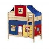 Alto High Bunk by Maxtrix Kids: Natural, Curved, Twin, 29-Red / Blue / Yellow