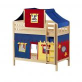 Alto High Bunk by Maxtrix Kids: Natural, Slats, Twin, 29-Red / Blue / Yellow