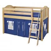 Easy Rider Low Loft by Maxtrix Kids: Natural, Curved, Twin, 22-Blue / White