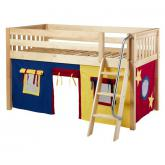 Easy Rider Low Loft by Maxtrix Kids: Natural, Slats, Twin, 29-Red / Blue / Yellow