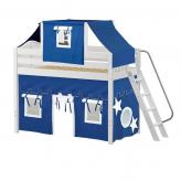 Pack Mid Loft by Maxtrix Kids: White, Curved, Twin, 22-Blue / White