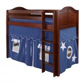 Snip Mid Loft by Maxtrix Kids: Chestnut, Curved, Twin, 22-Blue / White