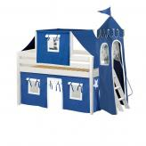 Spice Low Loft by Maxtrix Kids: White, Panel, Twin, 22-Blue / White