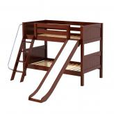 Laugh Low Bunk Bed by Maxtrix Kids: Chestnut, Panel, Twin, Slide