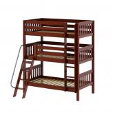 Moly Triple Bunk Bed by Maxtrix Kids: Chestnut, Panel, Twin