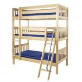 Moly Triple Bunk Bed by Maxtrix Kids: Natural, Slats, Twin