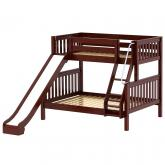 Slick Med ToF Bunk Bed by Maxtrix Kids: Chestnut, Slats, Slide