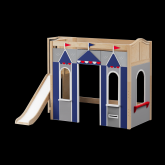 Stadium High Loft Playhouse by Maxtrix Kids: Natural, Curved, Blue and Gray
