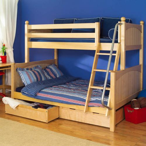 Natural Twin Over Full Bunk Beds by Maxtrix Kids (830)