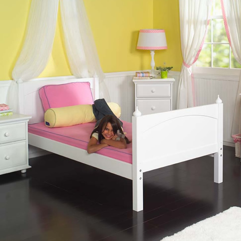Traditional White Kids' Bed by Maxtrix Kids (220)