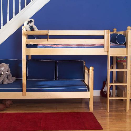 Mish Parallel Bunk Bed by Maxtrix Kids: Natural, Panel, Twin 1