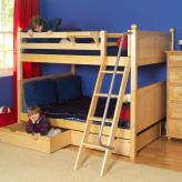 Got It Med Bunk Bed by Maxtrix Kids: Natural, Panel, Twin