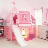 Pink Princess Castle Bed with Slide by Maxtrix Kids (370)