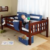 Quick View Chestnut Day Bed With Safety Rail By Maxtrix Kids 240