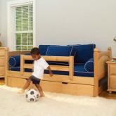 Natural Day Bed with Safety Rail by Maxtrix Kids (240)