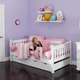 White Day Bed with Safety Rail by Maxtrix Kids (240)