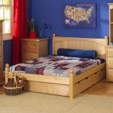 Platform Bed in Natural by Maxtrix (shown w/ storage drawers) (205)