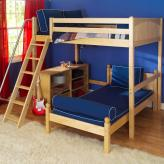 Maxtrix Kids High Loft Bed (shown with platform bed & bookcase in natural) (500)